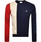Product Image for Lacoste Colour Block Sweatshirt Navy