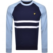 Product Image for Lyle And Scott Raglan Stripe Sweatshirt Navy