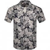 Product Image for Michael Kors Short Sleeved Tropical Shirt Navy