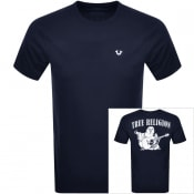 Product Image for True Religion Crew Neck Logo T Shirt Navy