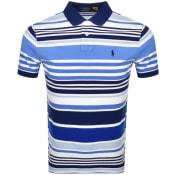 Product Image for Ralph Lauren Custom Slim Polo T Shirt Blue