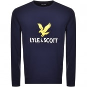 Product Image for Lyle And Scott Crew Neck Logo Sweatshirt Navy