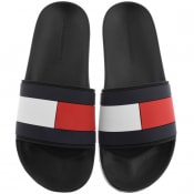 Product Image for Tommy Hilfiger Flag Sliders Black