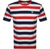 Product Image for Fila Vintage Yarn Dye Striped T Shirt Red
