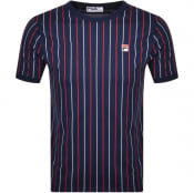 Product Image for Fila Vintage Mica Striped T Shirt Navy