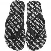 Product Image for Versace Jeans Couture Logo Flip Flops Black