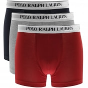Product Image for Ralph Lauren Underwear 3 Pack Boxer Trunks Grey