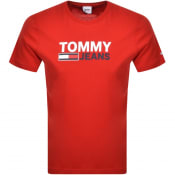 Product Image for Tommy Jeans Corp Logo T Shirt Red
