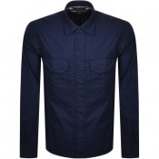 Product Image for Tommy Hilfiger Tonal Herringbone Shirt Navy