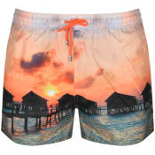 Product Image for PS By Paul Smith Float Huts Swim Shorts Orange