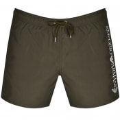 Product Image for Emporio Armani Logo Swim Shorts Green
