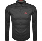 Product Image for BOSS Biado R Long Sleeved Shirt Grey