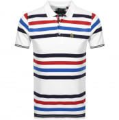 Product Image for Luke 1977 Stripe New Mead Polo T Shirt White