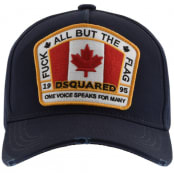 Product Image for DSQUARED2 Canada Patch Baseball Cap Navy