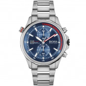 Product Image for BOSS 1513823 Globetrotter Watch Silver