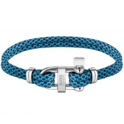 Product Image for BOSS Sailer Cord Bracelet Blue