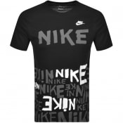 Product Image for Nike Crew Neck Hybrid Logo T Shirt Black