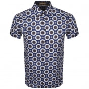 Product Image for Ted Baker Yoga Short Sleeved Shirt Blue