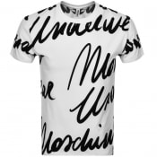 Product Image for Moschino Short Sleeve Logo T Shirt White