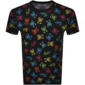 Product Image for Moschino Short Sleeve Bear Logo T Shirt Black