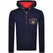 Product Image for Gant Flag Crest Full Zip Hoodie Blue