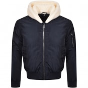Product Image for True Religion Sherpa Bomber Jacket Navy