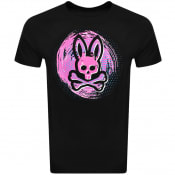 Product Image for Psycho Bunny Downey Logo T Shirt Black