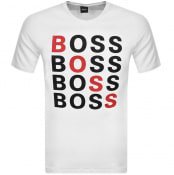 Product Image for BOSS Crew Neck Tiburt 215 Logo T Shirt White