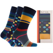 Product Image for Paul Smith Gift Set 3 Pack Socks Navy