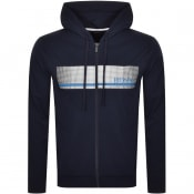 Product Image for BOSS Bodywear Authentic Full Zip Hoodie Blue