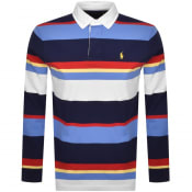 Product Image for Ralph Lauren Long Sleeve Rugby Polo T Shirt Navy