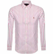 Product Image for Ralph Lauren Long Sleeved Stripe Shirt Pink