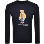 Product Image for Ralph Lauren Long Sleeved Logo T Shirt Navy