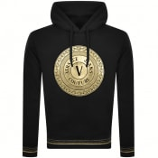Product Image for Versace Jeans Couture Round Logo Hoodie Black