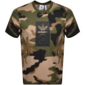 Product Image for adidas Camo Tongue T Shirt Khaki