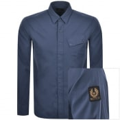 Product Image for Belstaff Pitch Twill Long Sleeved Shirt Blue