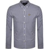 Product Image for Lyle And Scott Long Sleeve Gingham Shirt Navy