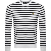 Product Image for Lyle And Scott Breton Stripe Sweatshirt White
