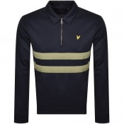 Product Image for Lyle And Scott Half Zip Sweatshirt Navy