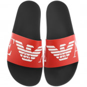 Product Image for Emporio Armani Logo Sliders Red