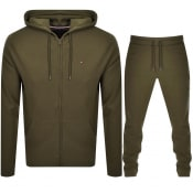 Product Image for Tommy Hilfiger Lounge Hooded Tracksuit Army Green