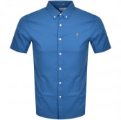 Product Image for Farah Vintage Brewer Slim Short Sleeve Shirt Blue