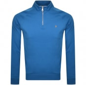 Product Image for Farah Vintage Jim Half Zip Sweatshirt Blue