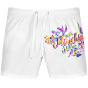 Product Image for Moschino Logo Swim Shorts White