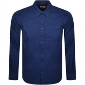 Product Image for Nudie Jeans Long Sleeved Chet Shirt Blue