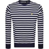 Product Image for Lyle And Scott Breton Stripe Sweatshirt Navy