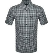 Product Image for Fred Perry Gingham Short Sleeved Shirt Blue