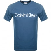 Product Image for Calvin Klein Logo T Shirt Blue