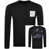 Product Image for Converse Star Logo Long Sleeve T Shirt Black