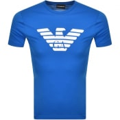 Product Image for Emporio Armani Crew Neck Logo T Shirt Blue